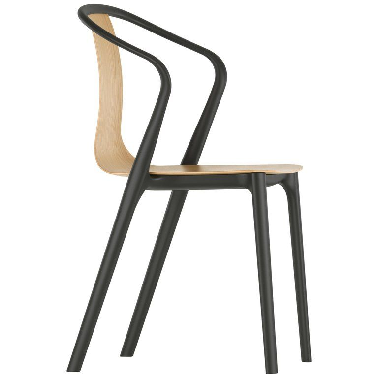 Vitra Belleville Armchair In Natural Oak By Ronan Erwan Bouroullec Wood Arm Chair Vitra Chair Armchair