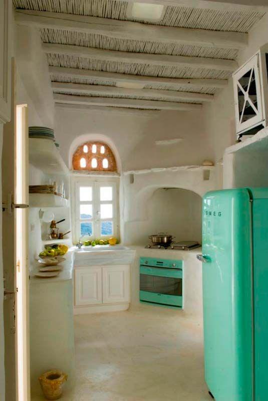 Blanco y turquesa para una casa en Grecia - Decorar Mi Casa Blog