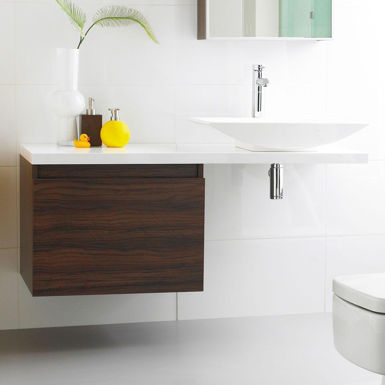 prague wall mounted bathroom vanity unit and basin 1200mm wide walnut