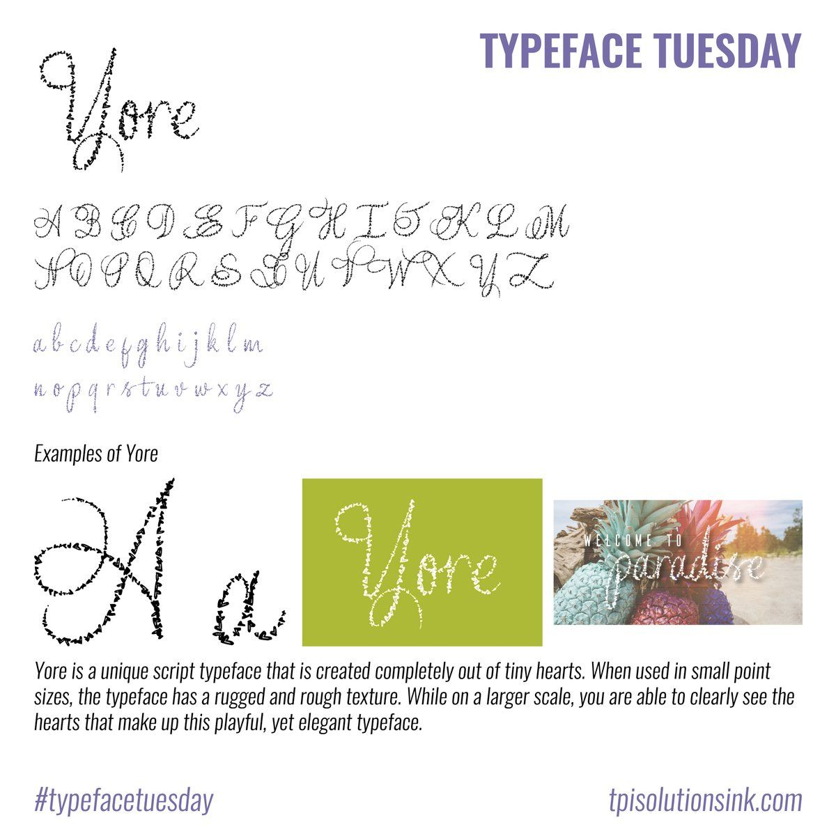 Happy Valentine's Day & Happy #TypefaceTuesday! Our #font
