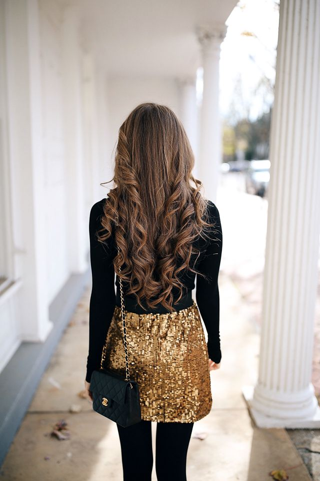 Sequin Skirt + T3 Curling Wand Giveaway! – Southern Curls