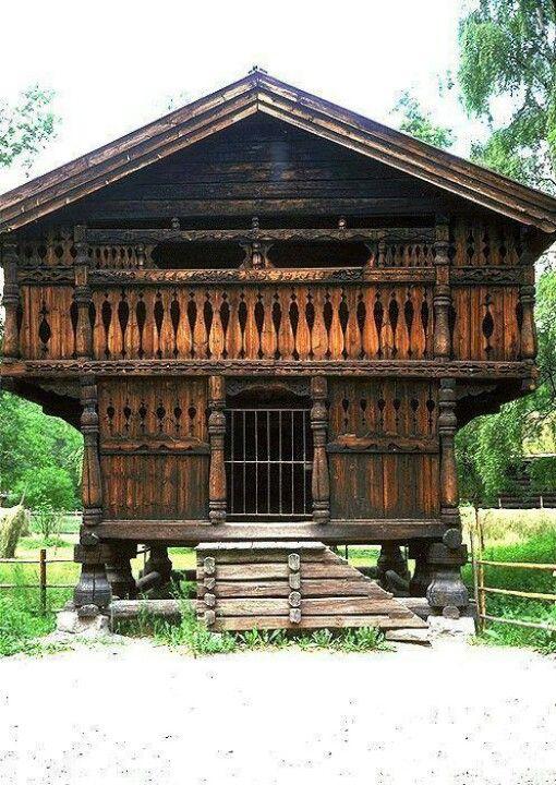 Norse Food Storage Building Norwegian Architecture Vernacular Architecture Norwegian House