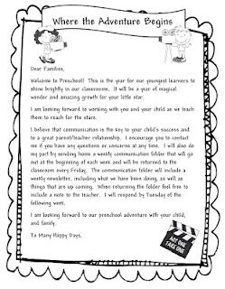 Awesome Welcome To Preschool Letter Welcome To Preschool Letter
