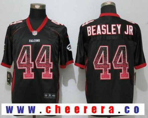 cf7613bcc Men s Atlanta Falcons  44 Vic Beasley Jr Black Drift Stitched NFL Nike  Fashion Jersey