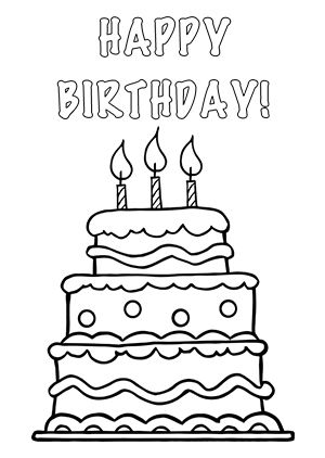 print out   Birthday cake clip art