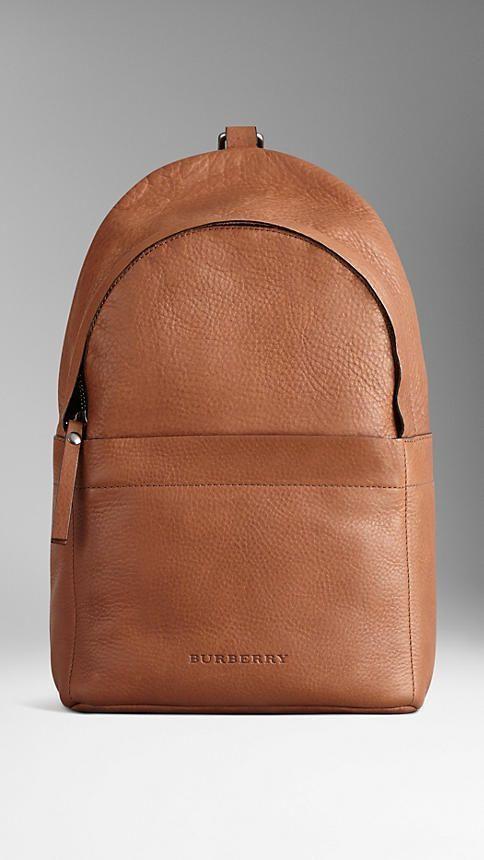 e72719a570f1c Grainy leather backpack with single strap by Burberry | LEATHER WALLET |  Çantalar, Çanta tasarımı und Sırt çantası