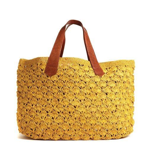 Valencia Crocheted Carryall in Sunflower design by Mar Y Sol