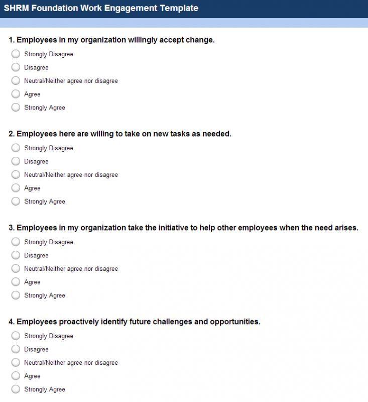 Employment Satisfaction Survey Questions Employee Satisfaction