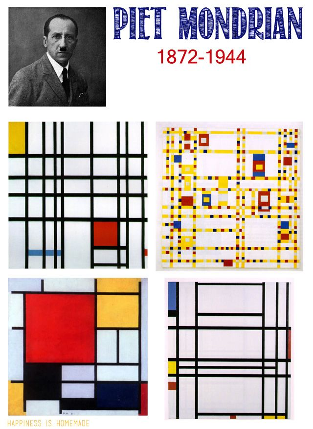 Photo of Kids Homeschool Art Lesson: Piet Mondrian