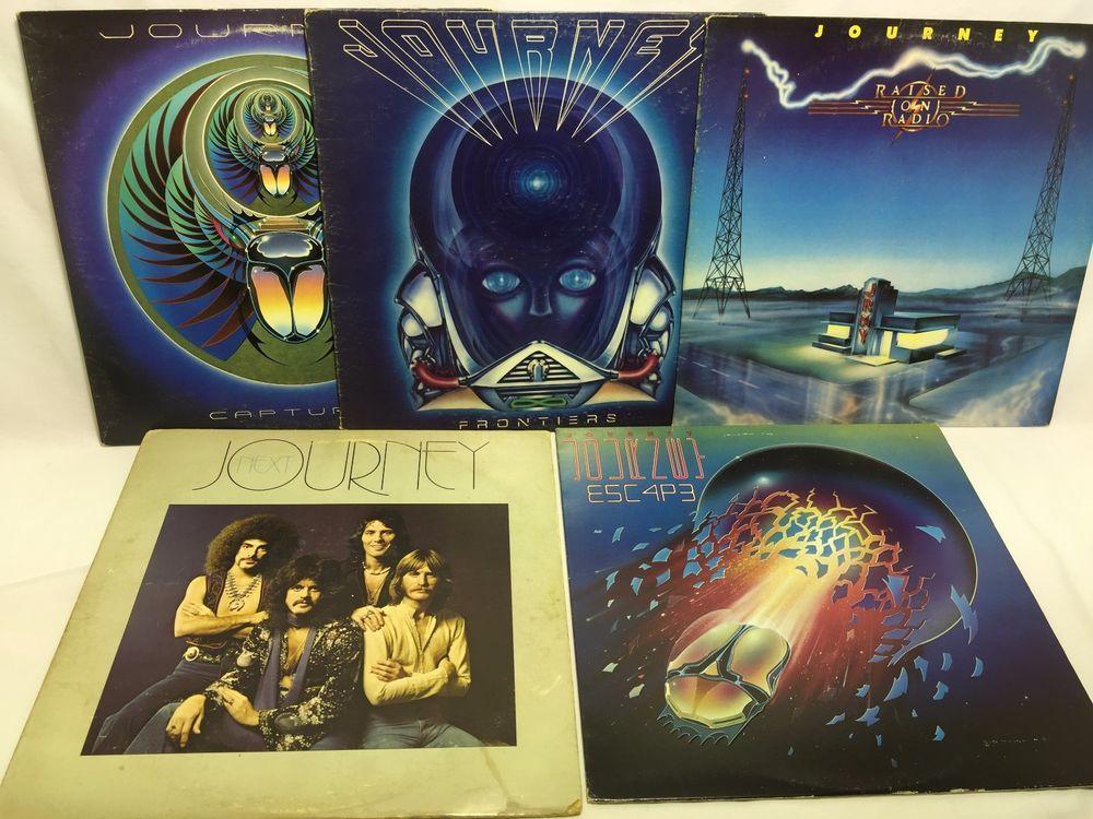 Journey Vinyl Record Lp Lot Captured Raised On Radio Escape Next Fronteirs Vinyl Vinyl Records Radio