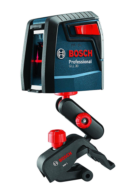 Bosch Gll 30 Self Leveling Cross Line Laser Amazon Com Bosch Laser Levels Red Beam