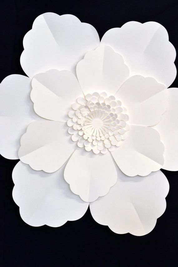 Giant 2 ft paper flower for wedding decoration for Big flower paper template