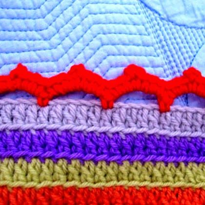 Crochet For Children: Stripy Blanket Edging