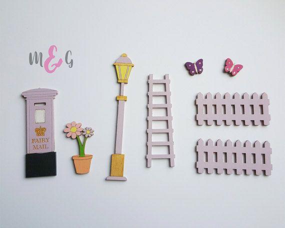 Fairy Door Accessory Set Fairy Door Extras Post Box Etsy Fairy Door Accessories Fairy Door Kit Fairy Door