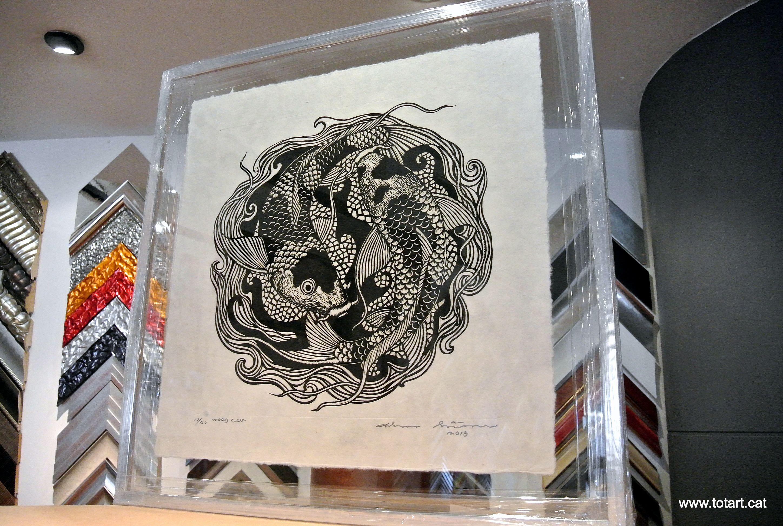 Enmarcación grabado Tai en tienda de cuadros y enmarcación de ...