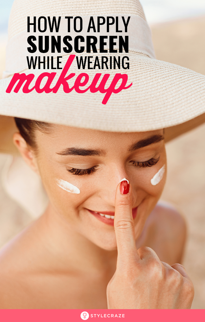 How To Apply Re Apply Sunscreen While Wearing Makeup With Images Skin Breaking Out Makeup Sunscreen