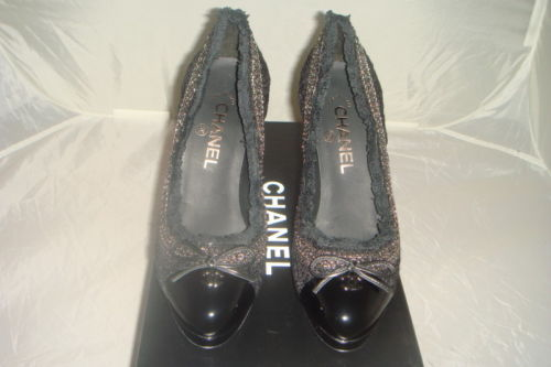 787.05$  Buy now - http://viojs.justgood.pw/vig/item.php?t=o15r7w453827 - NIB AUTHENTIC Chanel Tweedy Tweed Chain Platform Black Platform Pumps Shoes 41