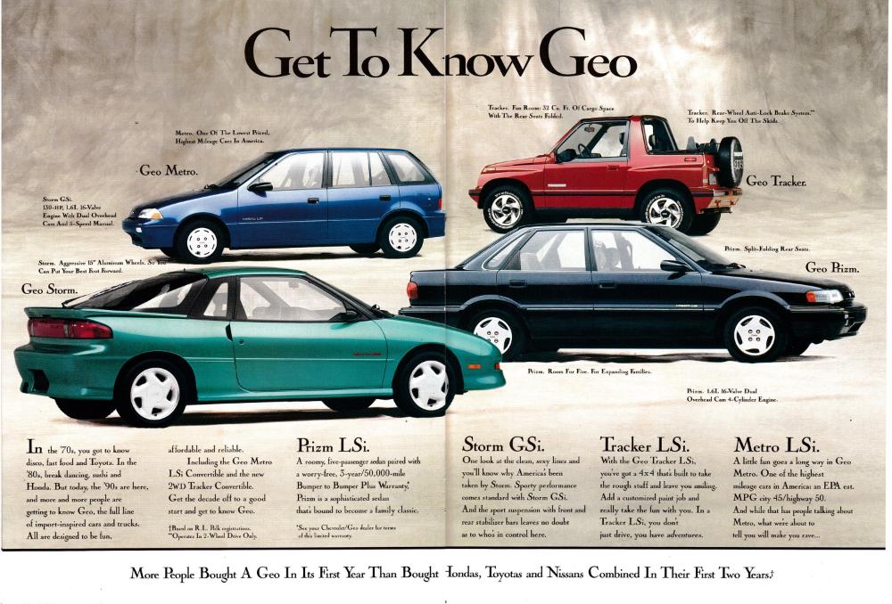 1990 Chevrolet Geo Product Line Get To Know Geo Original 2 Etsy Chevrolet Car Ads Magazine Ads