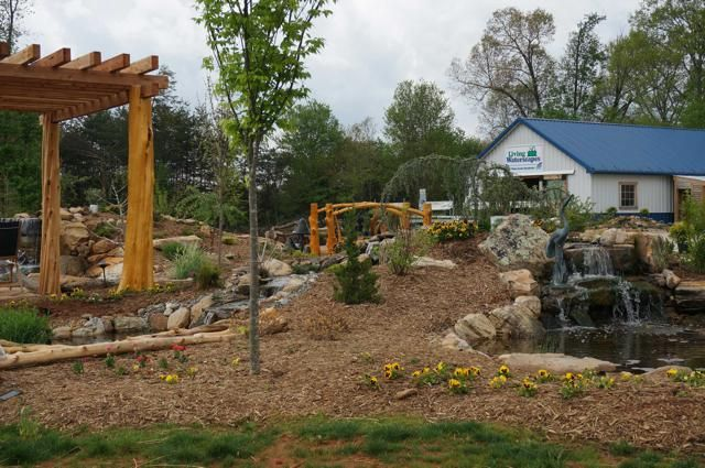 One Corner Of The Outdoor Pond Water Garden Showroom Located At