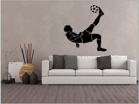 Wandtattoo: Fußballspieler