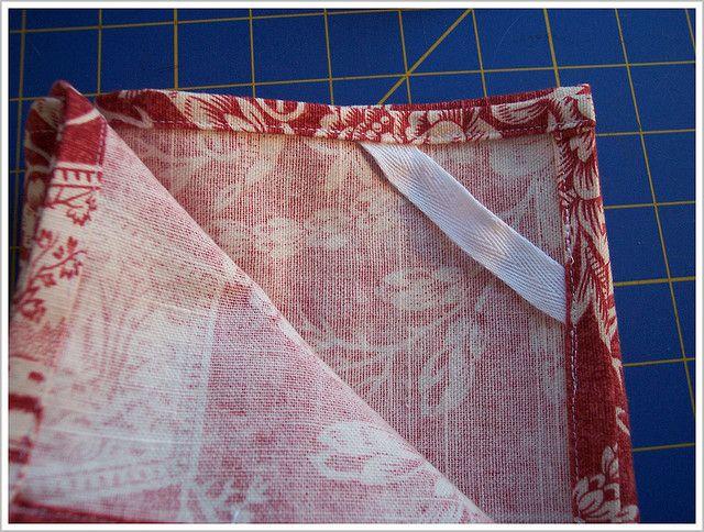Hemming - tea towel for beginners | Sewing | Sewing, Tea