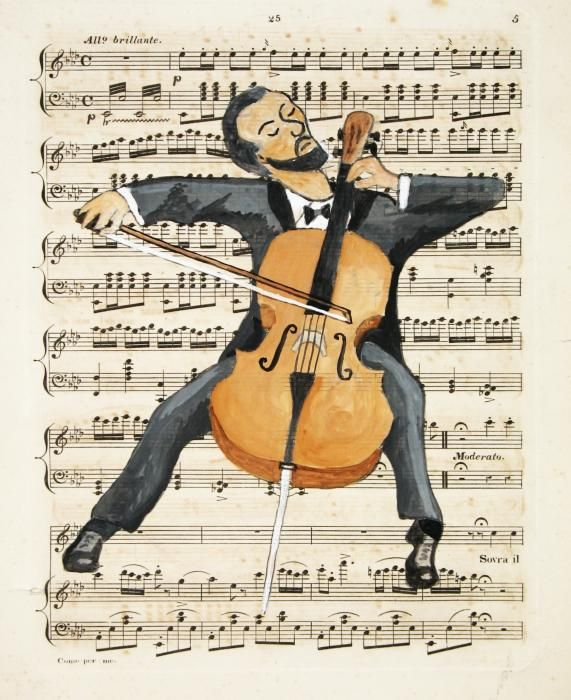 The Cellist Painting