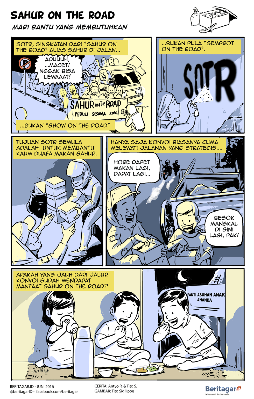 Kisah Sejumput Dari Sahur On The Road Kartun Jalan Ramadan