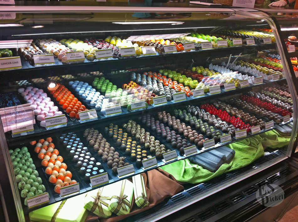 Norman Love Chocolate Case At Norman Love Confections Boutique