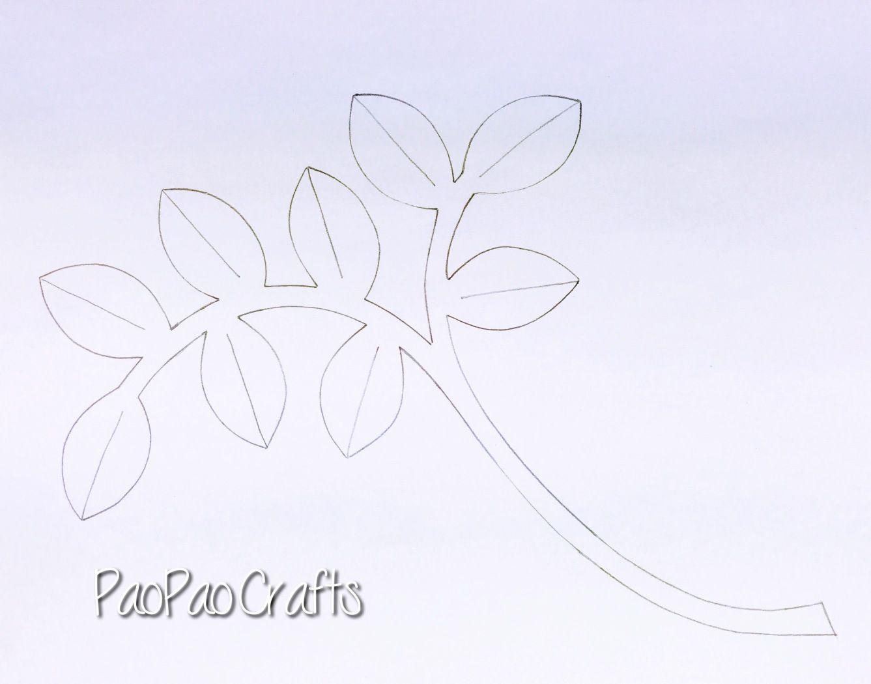 HOJAS DE PAPEL 1 - PAPER LEAVES .jpg   Ideas sorpresas   Pinterest ...