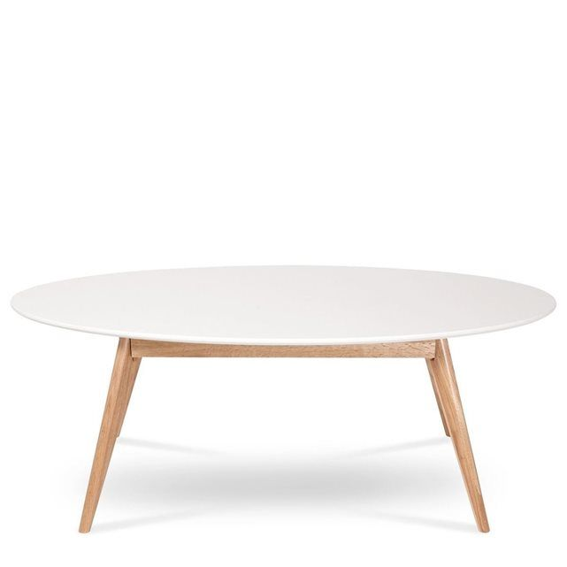 Skoll table basse scandinave ovale table basse bois - Table de salon style scandinave ...