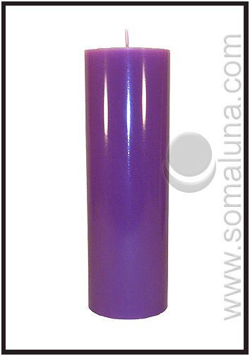 Royal Purple 9 5 X 3 Pillar Candle Pillar Candles Purple Pillar Candles Candles