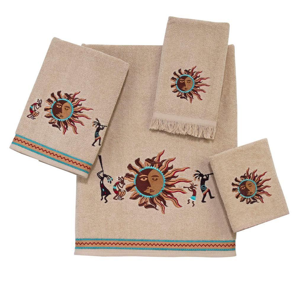 Avanti Linens Southwest 4 Piece Geometric Bath Towel Set 036266