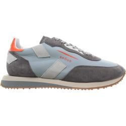 Photo of Ghoud Sneakers Man Sneakers Low Leather Light Blue Gray Orange