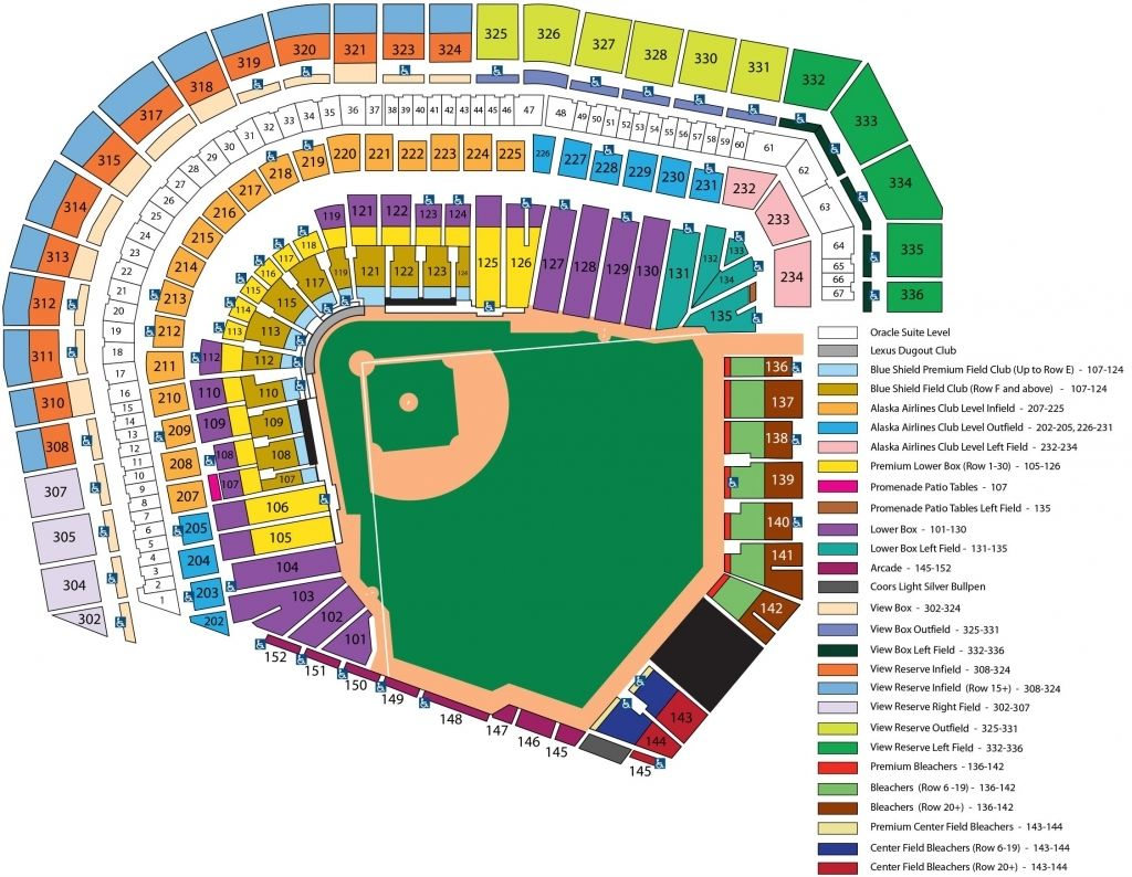 Dodger Stadium Seating Chart With Seat Numbers Fedex Field Dodger Stadium Seating Chart Seating Charts