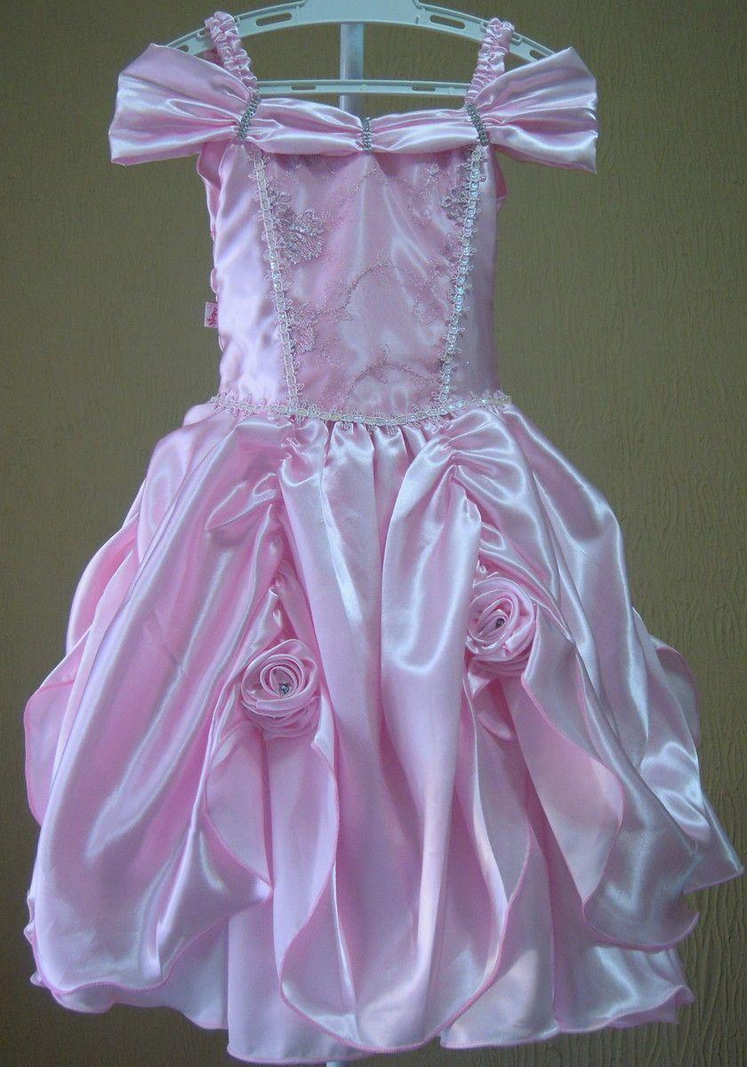 Vestido de Princesa Rosa Bebê - Infantil   Vestido de princesa, Para ...