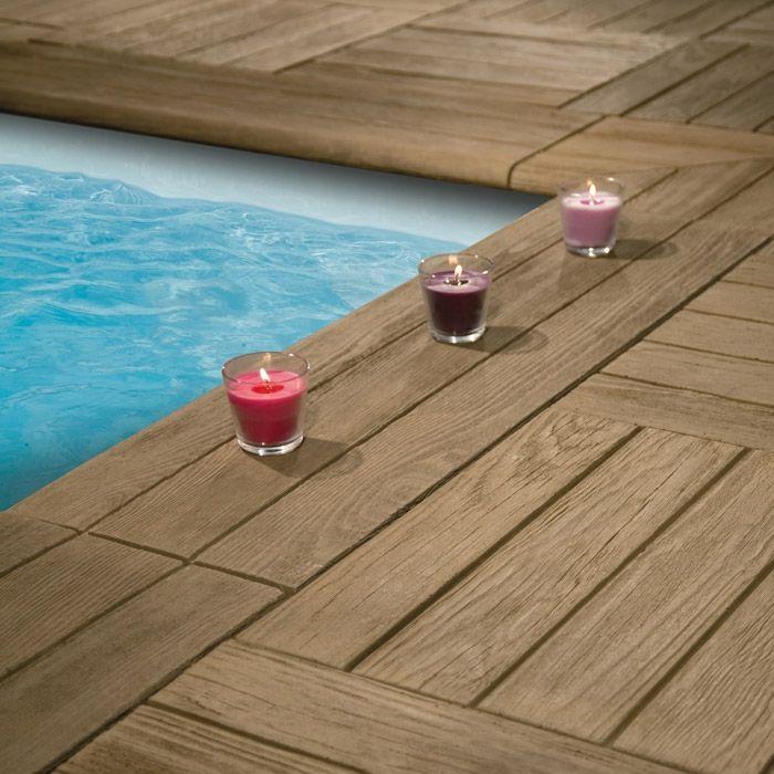 Jolie dalles en imitation bois pour lu0027extérieur Jardin Pinterest - Dalle De Beton Exterieur