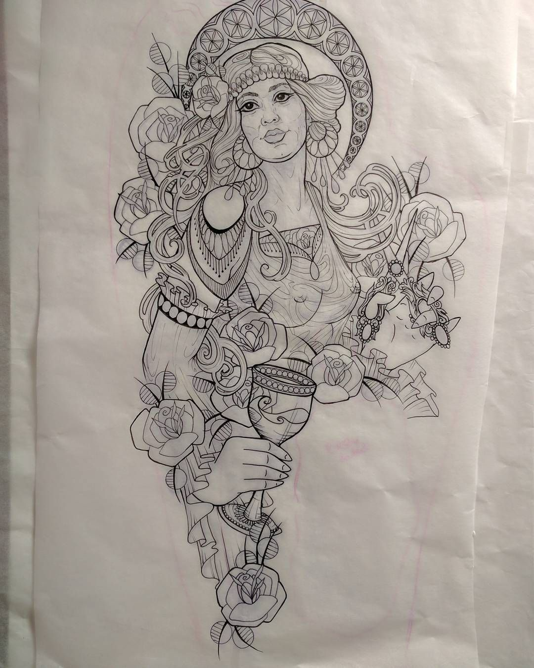 Pretty excited to tattoo this lady tomorrow! Might make a few adjustments here and there as I go along...