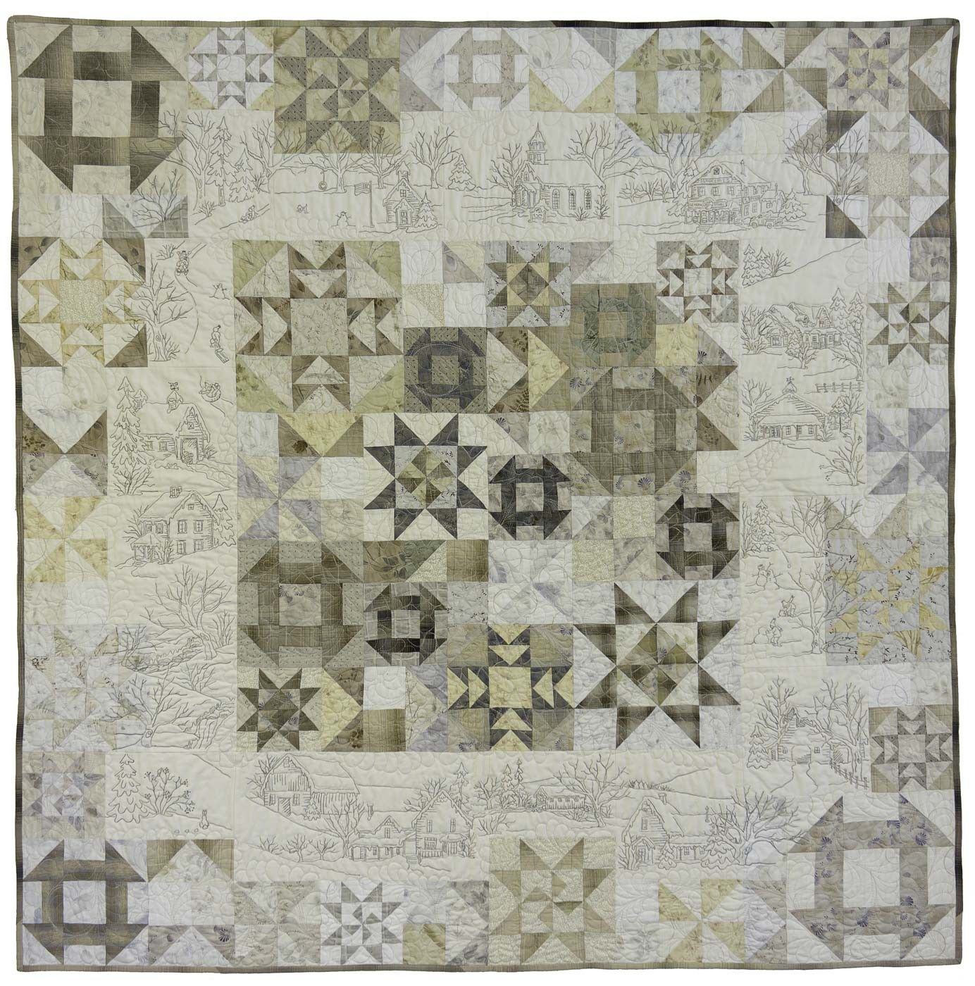 Snow Days by Meg Hawkey of Crabapple Hill Studio - magnificent ... : embroidered quilts patterns - Adamdwight.com
