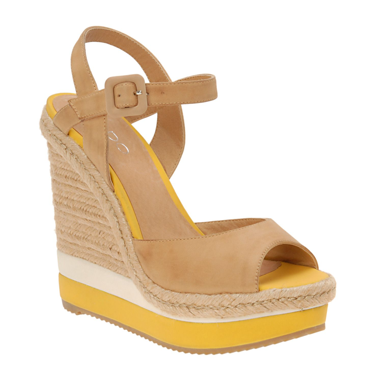 d19a452368a7 LOVE these nude yellow wedges for spring summer Aldo Shoes