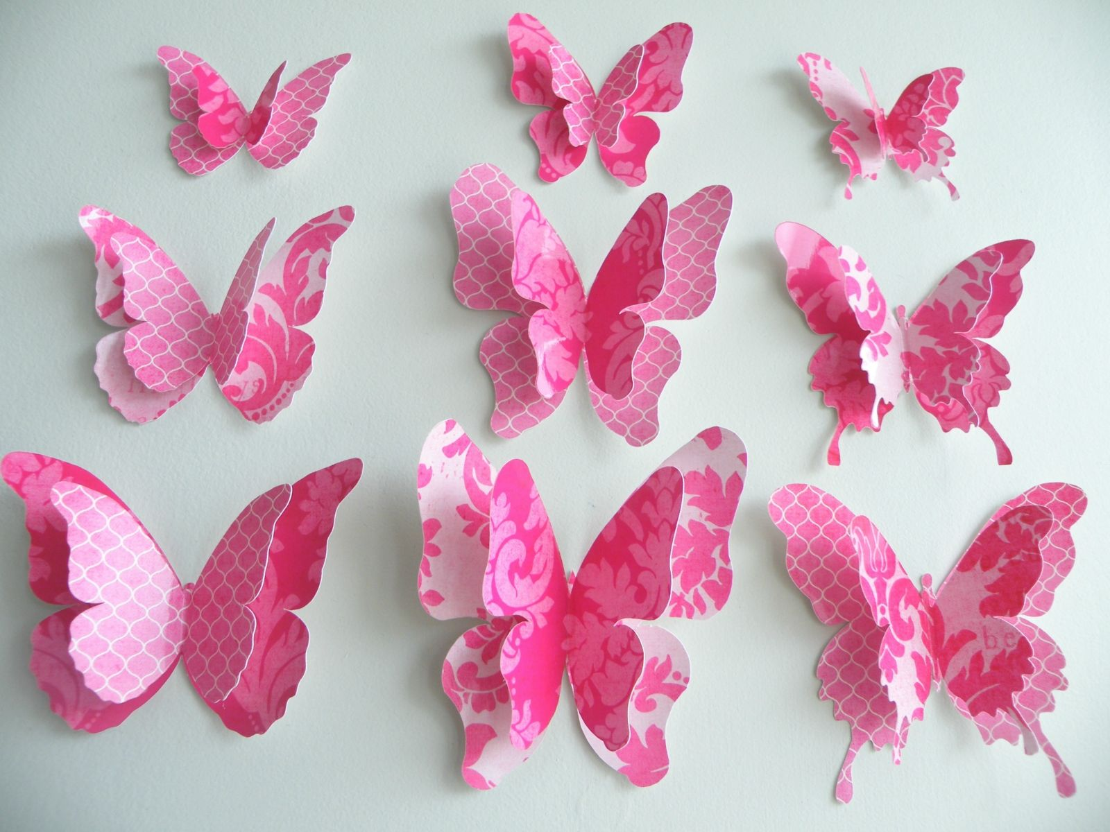 Wall Decoration Ideas With Paper Butterfly