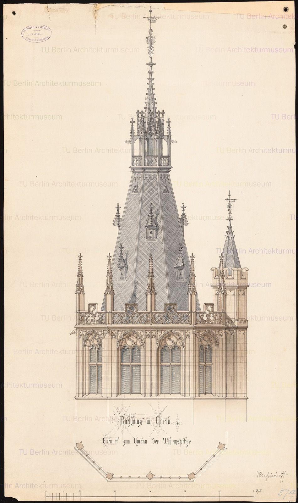 Rathaus In Koln Umbau Gotische Architektur Architekturzeichnung Architektur