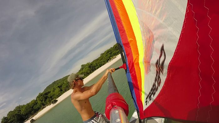 Windsurfing at Nkwichi Lodge