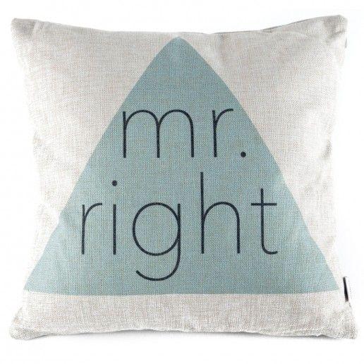 kissen mr right geschenke f r m nner pinterest m nnergeschenke geschenk f r m nner und. Black Bedroom Furniture Sets. Home Design Ideas