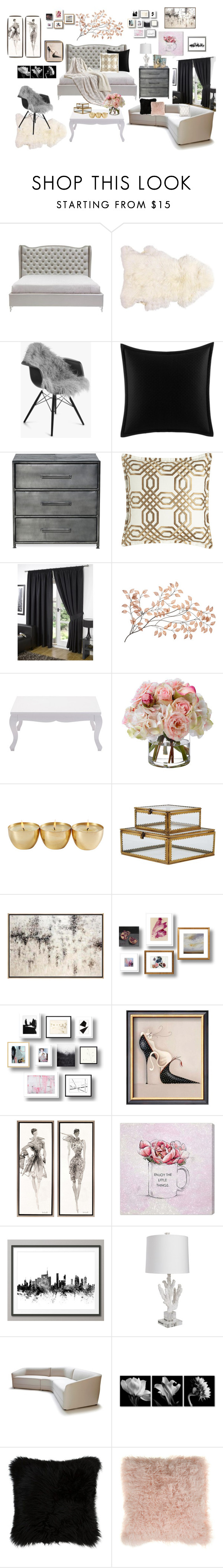 """Simple Rooms"" by kiaraalberts on Polyvore featuring interior, interiors, interior design, home, home decor, interior decorating, Natures Collection, Betsey Johnson, Diane James and Oliver Gal Artist Co."