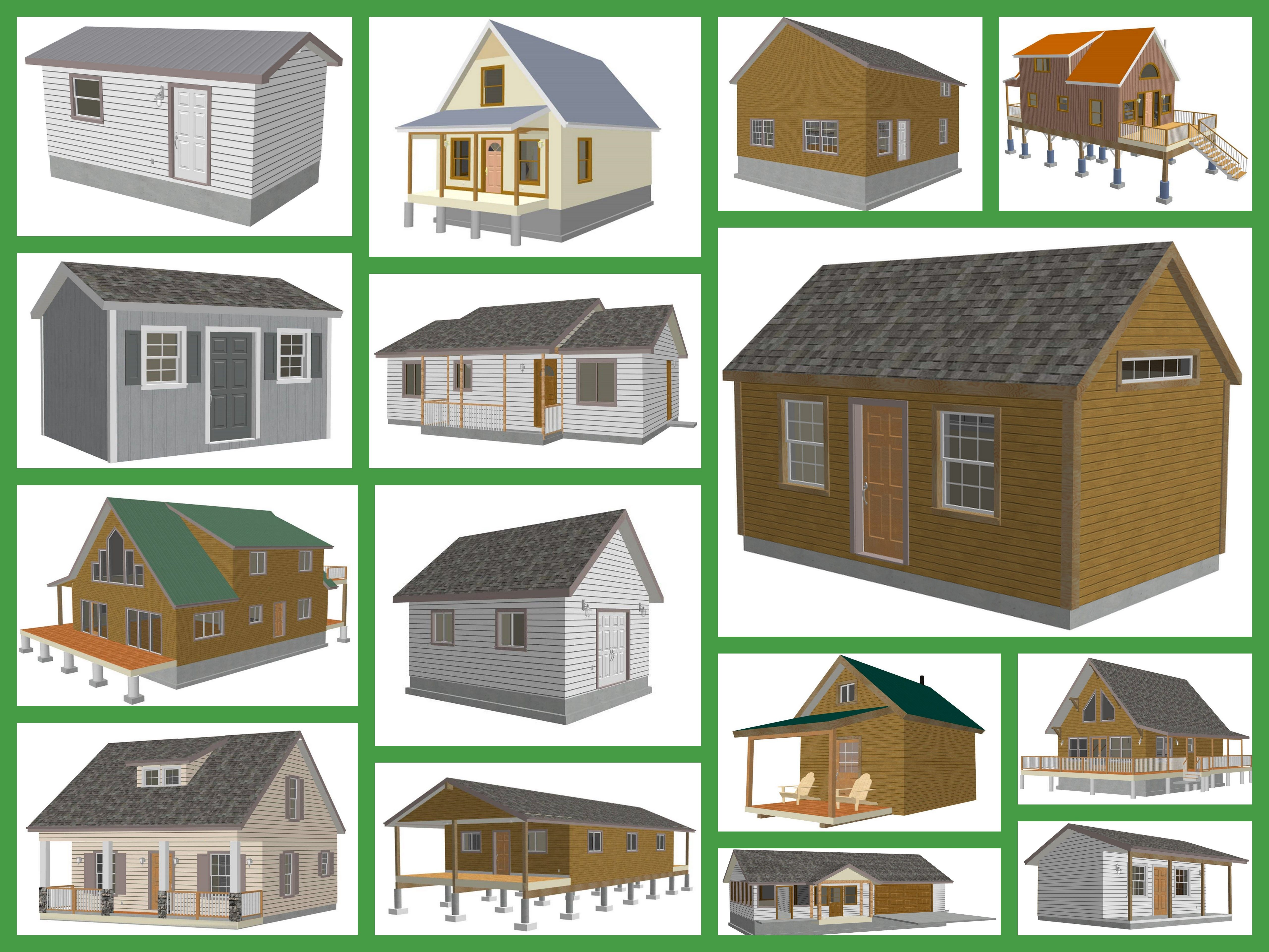 Bunkhouse Plans And Small Cabin Plans Small Shed Plans Shed Plans Storage Shed Plans
