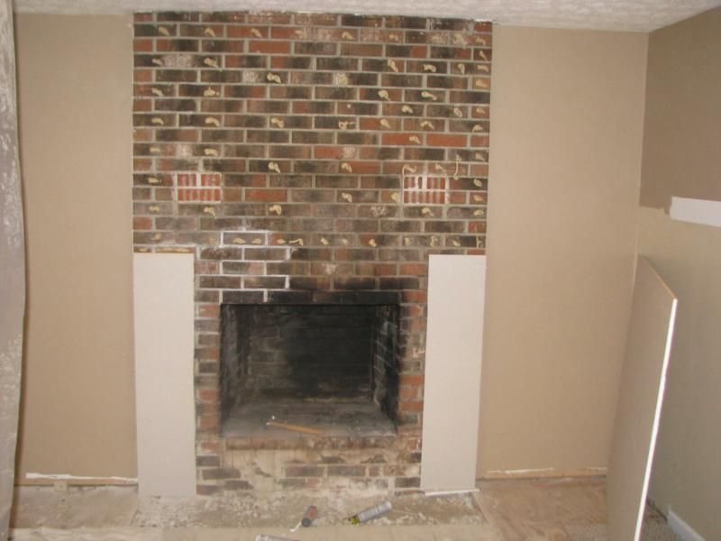 Installing Drywall Over A Fireplace Updating House Removing Fireplace Fireplace Remodel