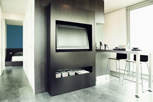Interir of sunset, mobile home designed by Hangar Design Group