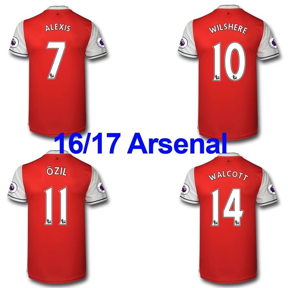 buy popular f904c f395e 2016 2016 2017 Soccer Jersey Arsenal Football Shirts Arsenal ...