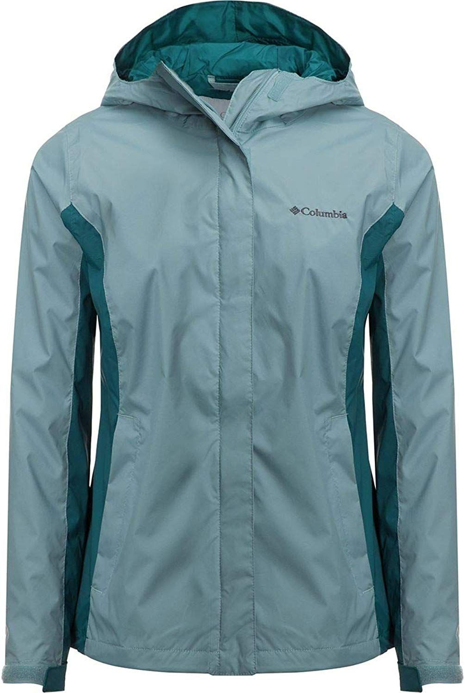 Amazon Com Columbia Women S Timber Pointe Omni Tech Rain Hooded Waterproof Jacket X Small Stone Blue Rain Jacket Women Jackets For Women Light Hooded Jacket [ 1500 x 1005 Pixel ]