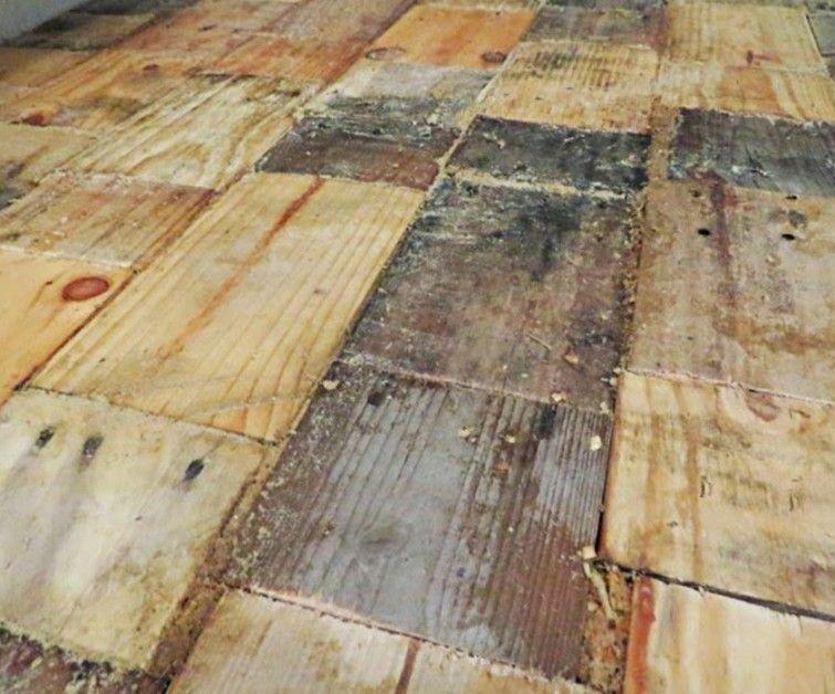 C mo hacer un piso parquet casero reutilizando maderas for Pisos para patios